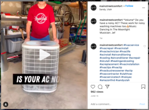 hvac instagram social post ideas